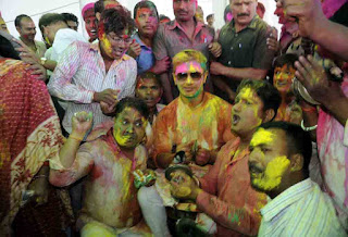 Holi Milan function was organised at Lok Janashakti Party (LJP) office in Patna on March 22, 2016. LJP leader and MP Chirag Paswan was present on the ...