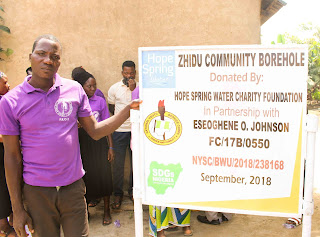 Corps Member Provides Water Facility for Zhidu Community