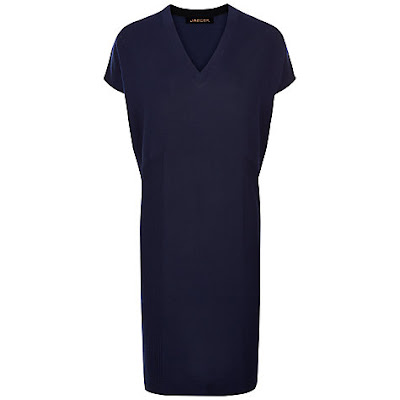 Jaeger Gostwyck Wool Slouchy Knitted Dress