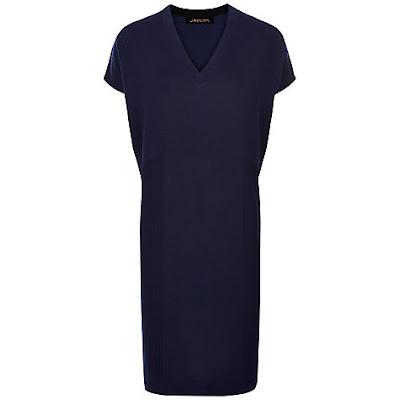 Jaeger Gostwyck Wool Slouchy Knitted Dress