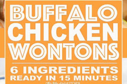 BUFFALO CHICKEN WONTONS, ONLY 6 INGREDIENTS AND READY IN 15 MINUTES,