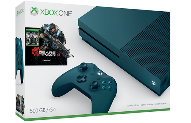 New Xbox One S Bundles for Gears Of War 4 uncovered White (1TB storage) and Blue (500GB storage)