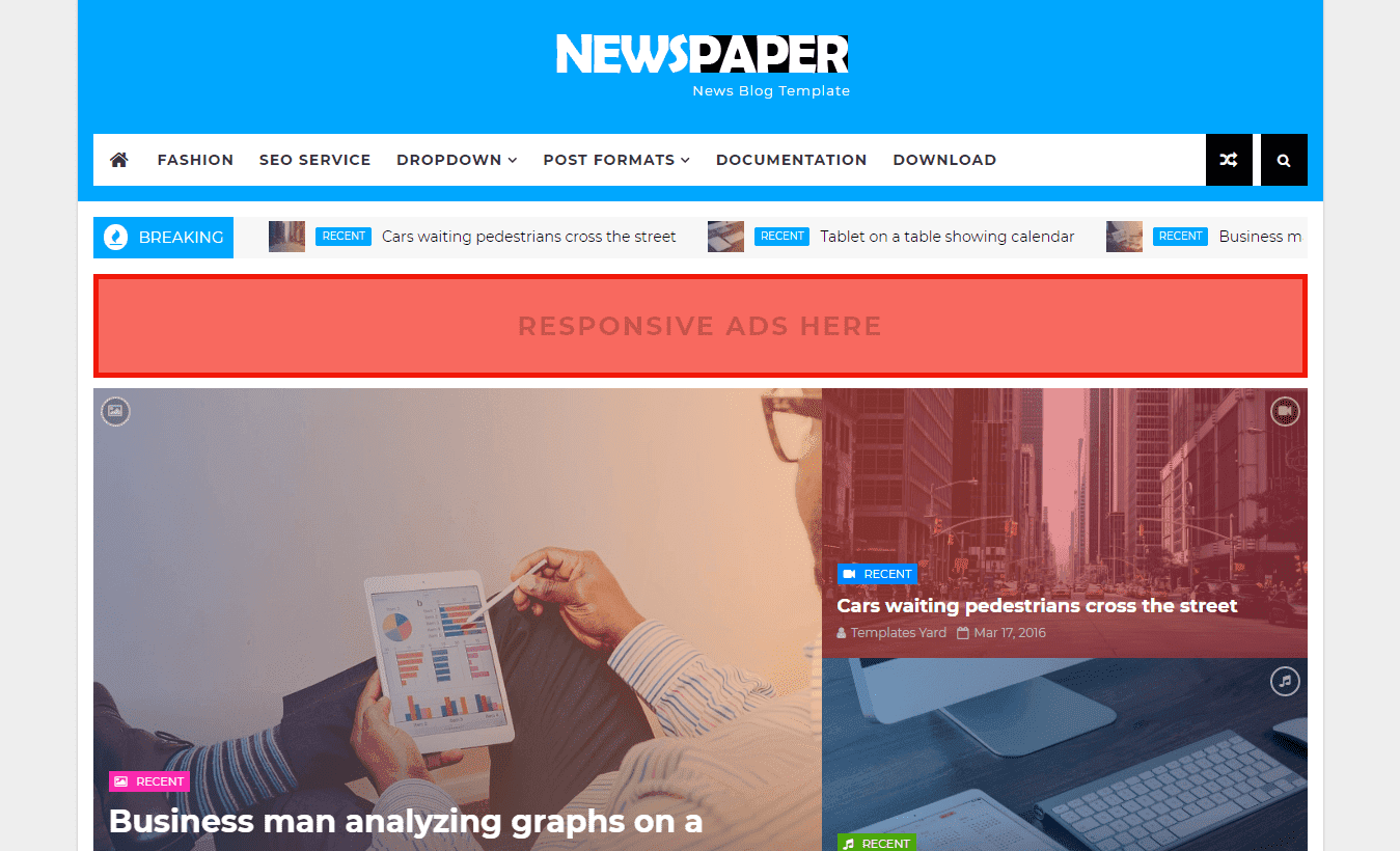 Newspaper News Blogger Template is a Mordern News Free Download Newspaper News