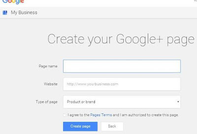 Create Google+ Plus Business Page?