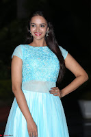 Pujita Ponnada in transparent sky blue dress at Darshakudu pre release ~  Exclusive Celebrities Galleries 094.JPG