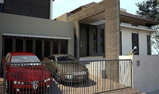 garasi minimalis bagian depan tanpa kanopi referensi rumah