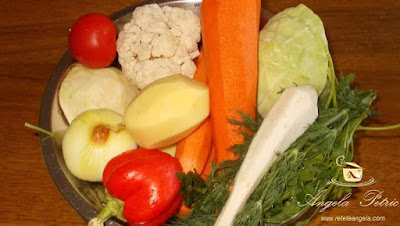 Ciorba de legume - etapa 1