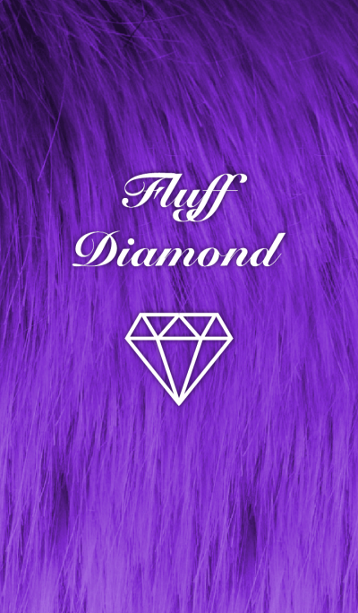 Fluff Diamond- Dark Purple