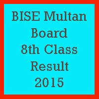 8th Class Result 2017 BISE Multan Board