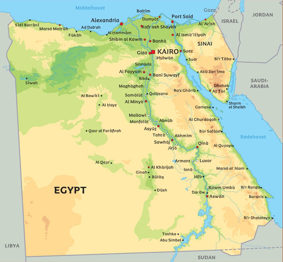 kongenes dal kart Rigmors liv: Om Egypt, januar 20116 kongenes dal kart