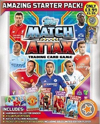 Match Attax 2014 2015 Juego Completo De 5 táctica Tarjetas