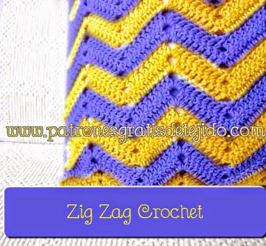 Clase magistral gratis de crochet: como tejer punto zig zag calado