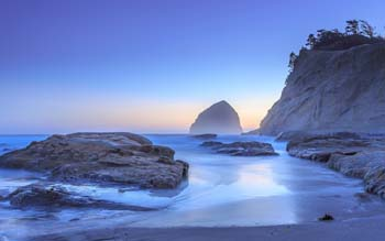 Wallpaper: Haystack rock in Pacific City