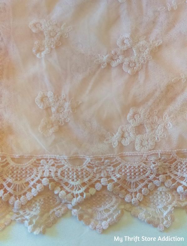 sheer lace runner
