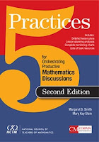 Cover image of 5 Practices for Orchestrating Productive Mathematics Discussions text.