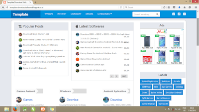 Template Blogger Software Downloader Responsive