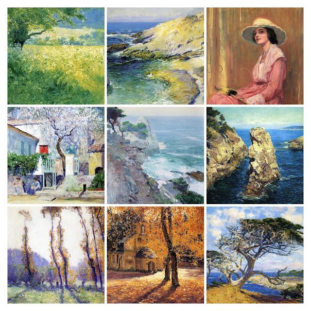 Dar ich vorstellen?, Guy Rose, painting, USA, impressionismus, kalifornien, 19. Jahrhundert, malerei, bild, poetische Art