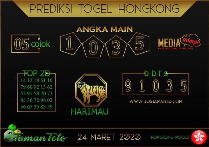 Prediksi Togel HONGKONG TAMAN TOTO 24 MARET 2020