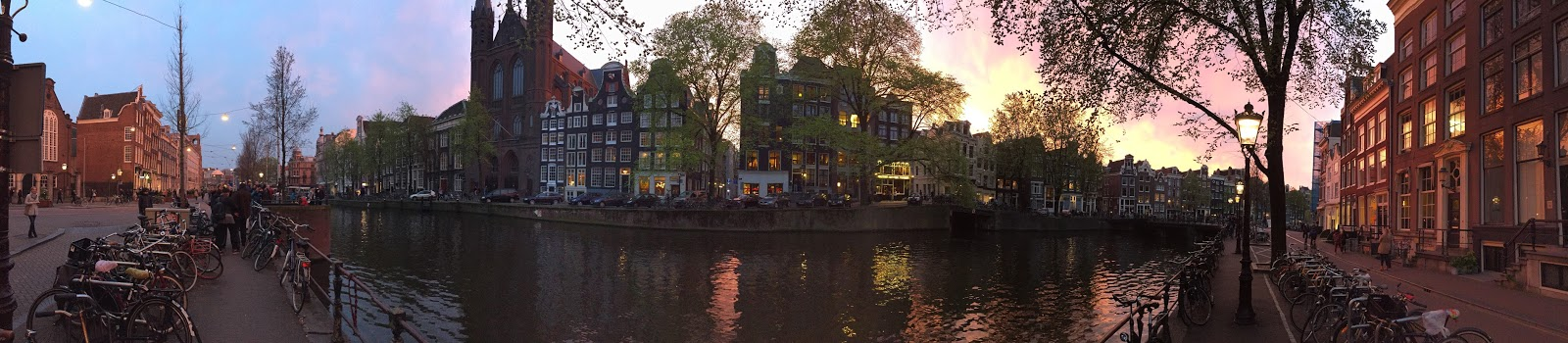 Amsterdam sun set