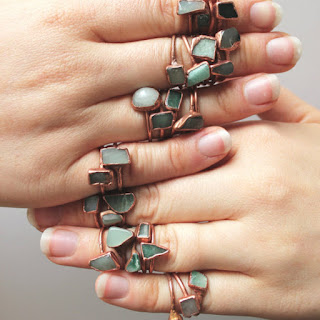 seventh anniversary copper jewelry rings