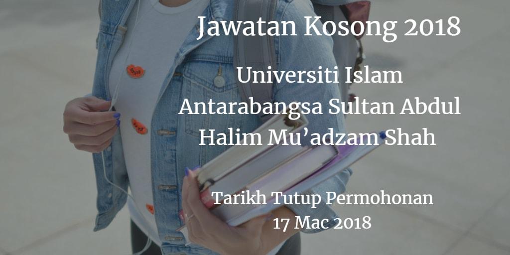 Jawatan Kosong UniSHAMS 17 Mac 2018