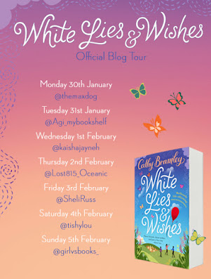 White Lies and Wishes by Cathy Bramley book blog tour graphic