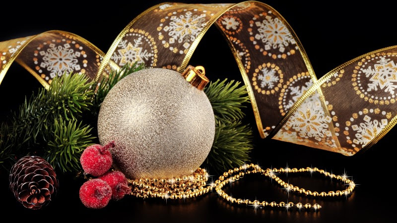 New year and Christmas decoration HD