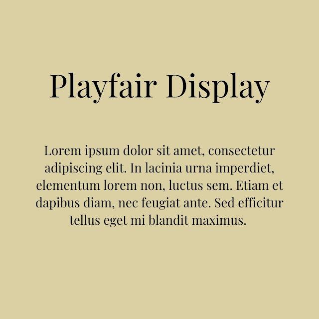 playfair display google fonts untuk blogger pemula