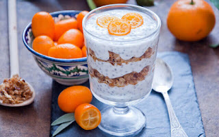 Semillas de chía con yogur