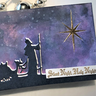 Sara Emily Barker https://sarascloset1.blogspot.com/2018/12/silent-night-holy-night.html Silent Night Holy Night Christmas Card Tim Holtz Sizzix Alterations Wise Men 3