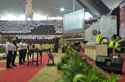 Kapolda Lampung Pimpin Penandatanganan Pakta Integeritas Penerimaan Anggota Polri TA 2018