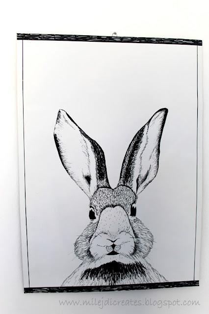 Obrazek królik do pokoju dziecka DIY