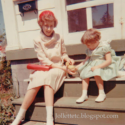 Wendy and Mary Jollette Easter 1962 or 1963  http://jollettetc.blogspot.com