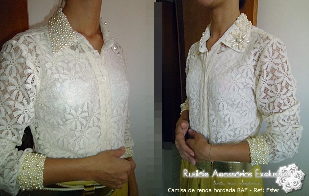 aa709b7d82369 RAE - Rutiléia Acessórios Exclusivos  Camisas Bordadas