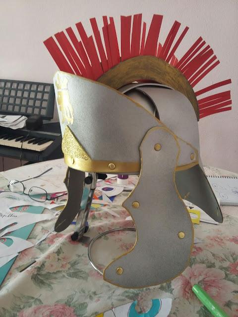 casco soldado romano de foam