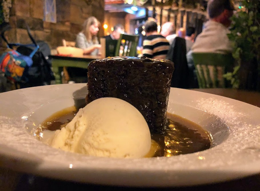 The Woodmans Arms Review | Sunday Lunch near Gibside  - sticky toffee pudding