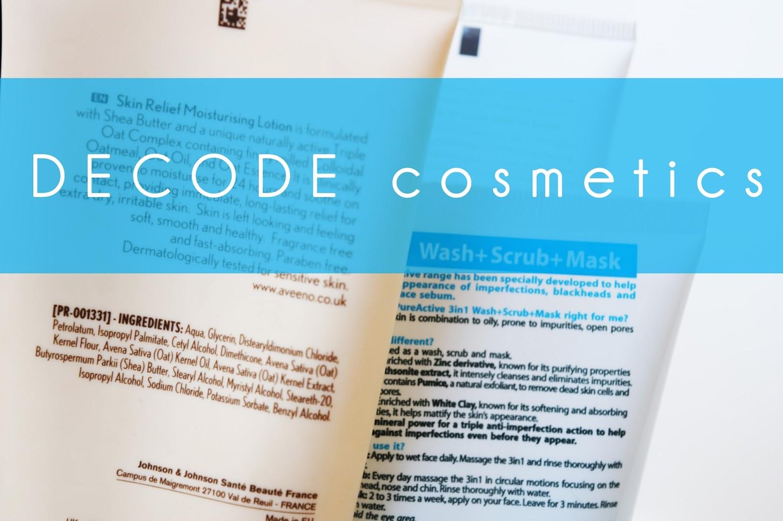 Decode cosmetic ingredient lists - INCI