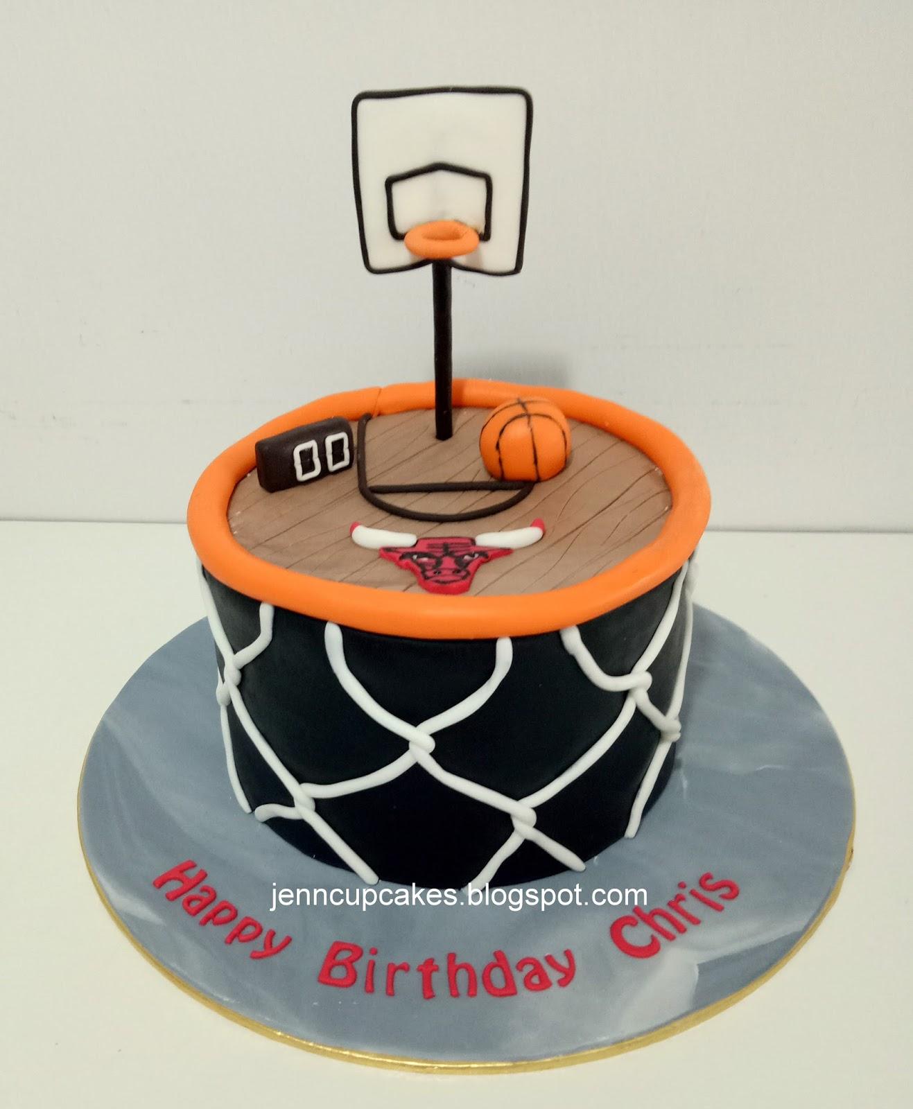 Jenn Cupcakes Amp Muffins Basketball Theme Cake