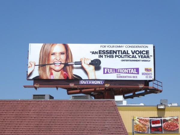 Full Frontal Samantha Bee 2016 Emmy FYC billboard