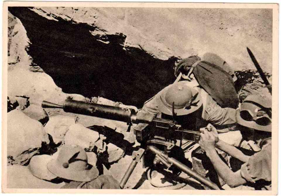 Ιταλικό πυροβολικό στην Αιθιοπία (Αβησσυνία) το 1936.