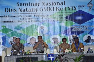 Kapolda Jambi Menghadiri Dan Narasumber Dalam Seminar Nasional Dies Natalis GMKI Jambi Ke-69.