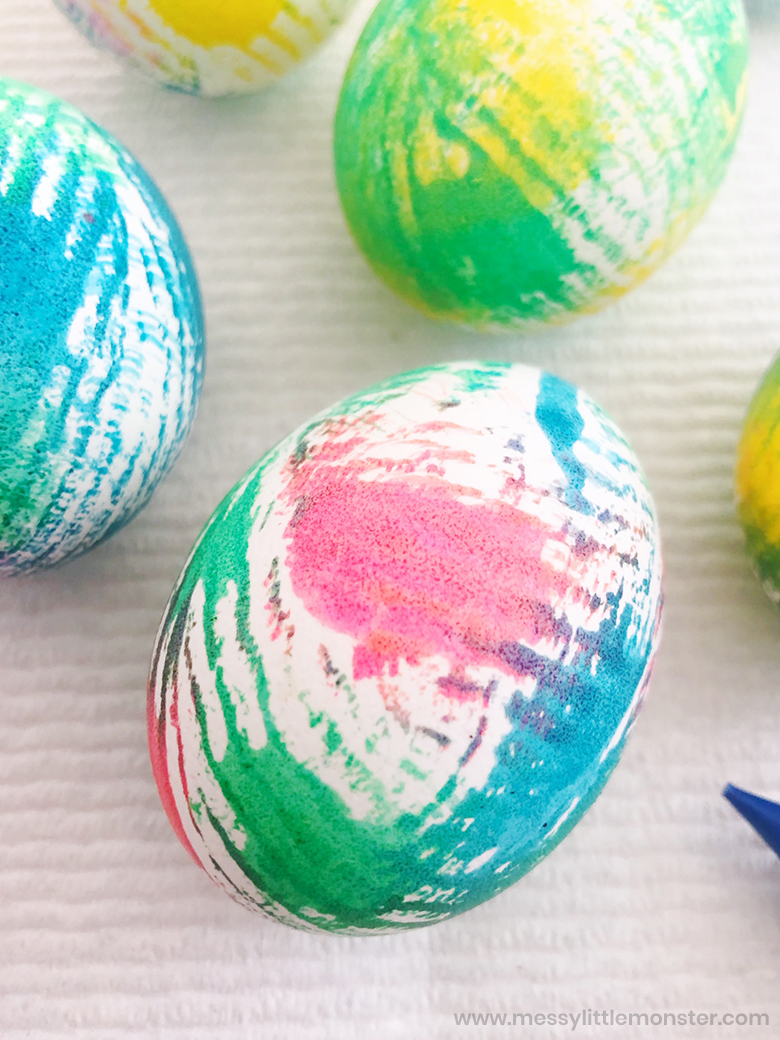 easy tie dye easter eggs for kids