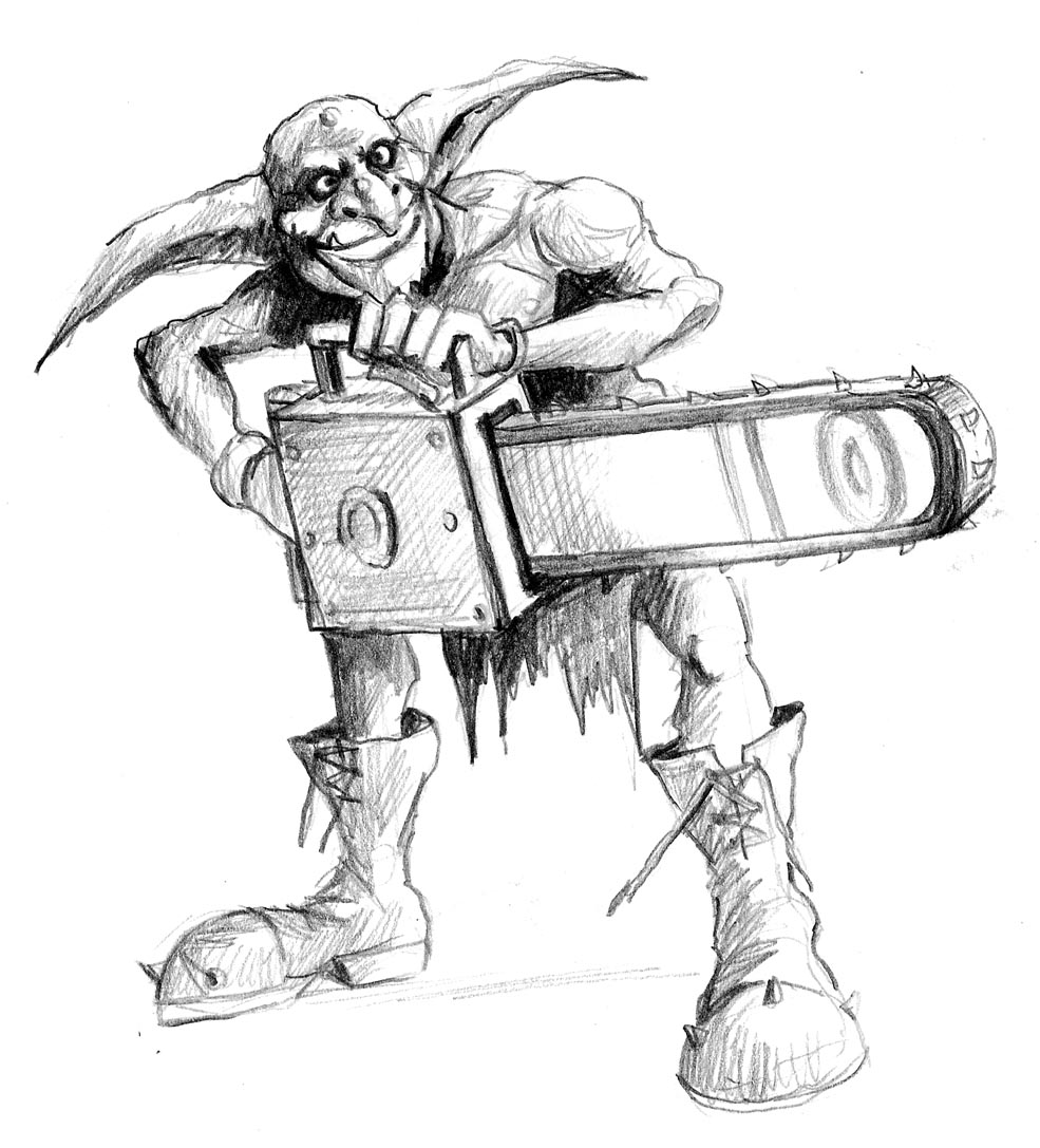 skaven clanrats coloring pages | The Art of Fantasy Football: 2nd Edition Goblin Team