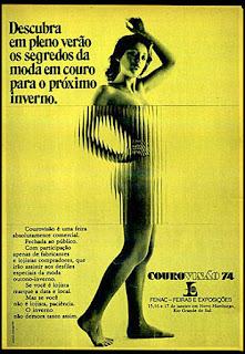 Feira Courovisão, Moda anos 70; propaganda anos 70; história da década de 70; reclames anos 70; brazil in the 70s; Oswaldo Hernandez