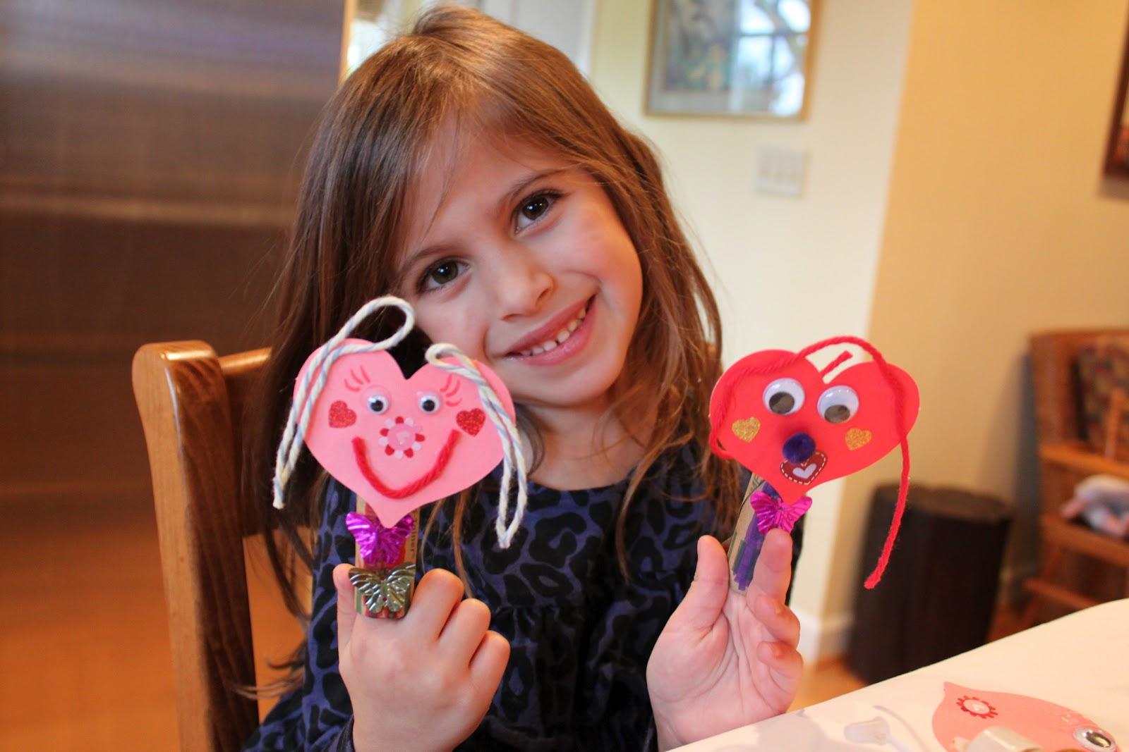 Green Owl Art Emma S Finger Puppet Valentines