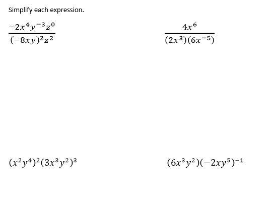Math Love Algebra 2 Exponent Rule Review – Algebra 2 Exponents Worksheet