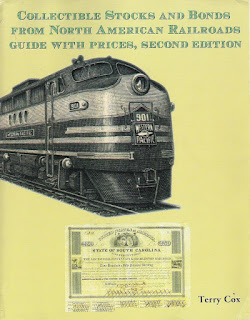Front cover of Terry Cox's catalogue of North American railroad securities