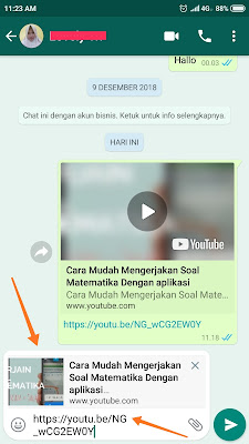 Cara Nonton Bareng Video Youtube di Whatsapp Dengan Pacar Sambil Chattingan
