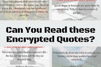 Challenge to read encrypted quotes by famous people