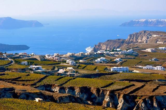 Passeio de lua de mel pelos vinhedos, Santorini